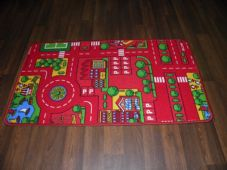 BARGAIN PRICES KIDS PLAYMAT NON SLIP BACKING 57X100CM CAR MATS/RUGS RED ONLY